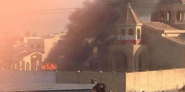الإعلام الأرمني: داعش تحرق كنيسة أرمنية في الموصل للمرة الثانية في أقل من عام