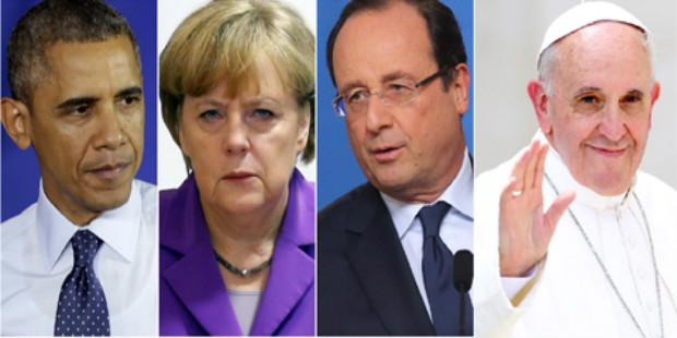 مصدر تركي: أوباما، أولاند، ميريكل والبابا فرنسيس في يريفان يوم 24 أبريل القادم