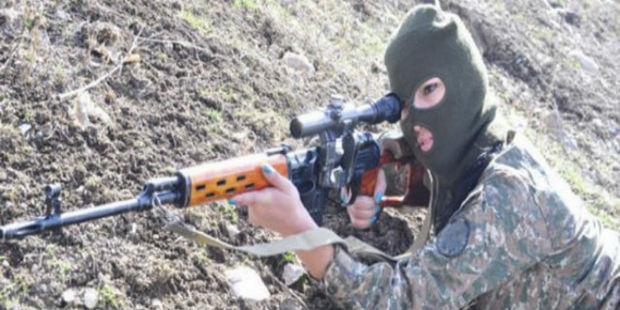 سيدة أرمنية متطوعة تقتل (قنصا) قائد مجموعة قناصة آذربيجاني