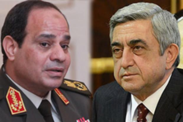 رئيس أرمينيا يبعث برسالة تعزية إلى الرئيس السيسي ويدين مجزرة داعش