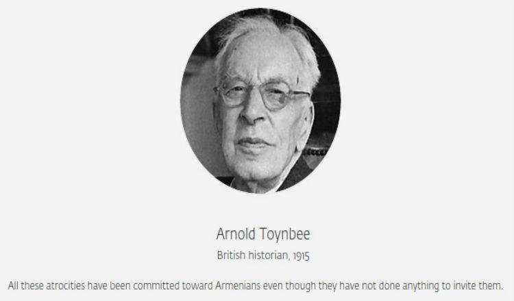 قالوا عن الإبادة الجماعية الأرمنية.. آرنولد توينبي، مؤرخ بربطاني