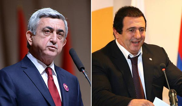 التاشناك ينجح في حل الخلاف بين الرئيس ساركيسيان والملياردير تساروكيان