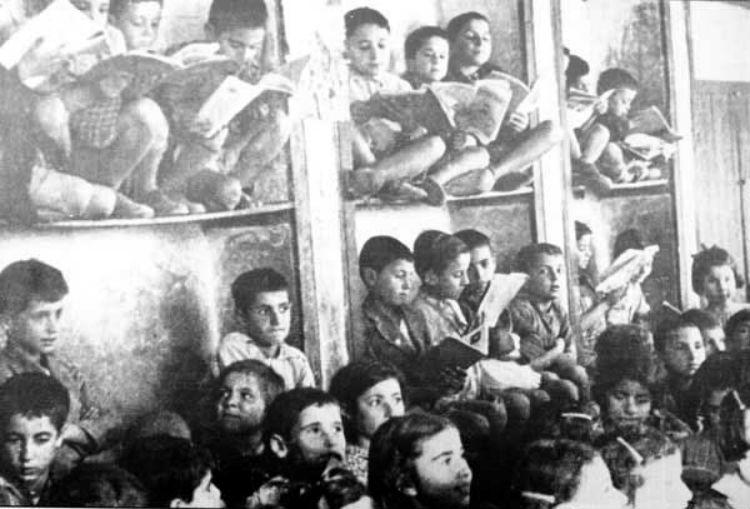 طلاب أرمن على مقاعد الدراسة في حلب سنة 1915