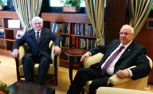نالبانديان في إسرائيل، التقى رئيسها دون لقاء نظيره افيغدور ليبرمان