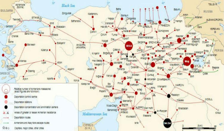 كم يبلغ عدد شهداء الإبادة الجماعية الأرمنية؟