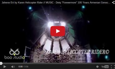 المسير بالمشاعل باتجاه النصب مصورة بالفيديو من طائرات من دون طيار