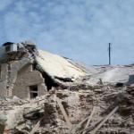 صورة مؤلمة للخراب الذي لحق بكنيسة الأربعين شهيد الأرمنية في حلب