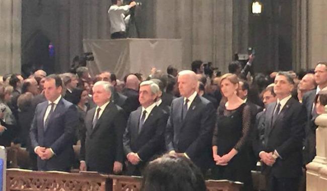 من هم المسؤولون الأرمن والأمريكيون الذين حضروا مئوية الإبادة في واشنطن
