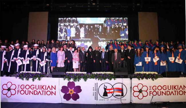 حفل تخرّج جماعي للمدارس الأرمنية في لبنان بمناسبة مئوية الإبادة