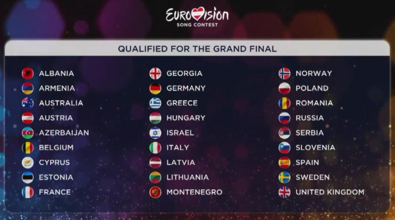 انتهاء البرايم الثاني و 27 دولة في النهائية مساء السبت بما فيهم أرمينيا