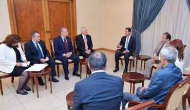 الأسد لوفد أرمني: الاخطار التي يواجهها الشعبان الأرمني والسوري واحدة