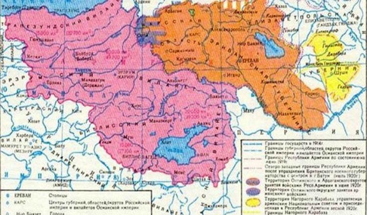 الإعلام الروسي يوضح بالصور والخرائط: 30% من تركيا الحالية ملك للأرمن