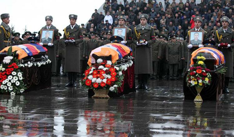 الحصيلة النهائية لشهدائنا القديسون في حرب الأيام الـ 4 مع أذربيجان