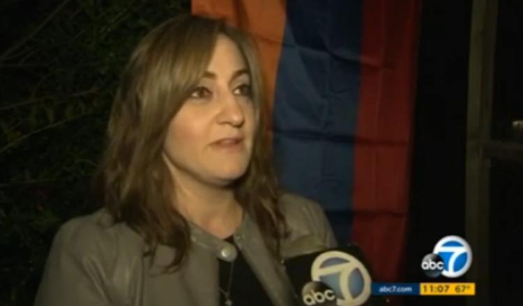 مجهول يترك رسالة تهديد لأسرة أرمنية في لوس أنجلوس لأنهم رفعوا علم أرمينيا