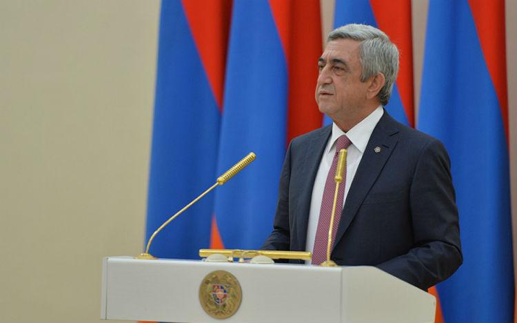 كلمة رئيس جمهورية أرمينيا سيرج ساركيسيان لمناسبة الذكرى 101 للإبادة