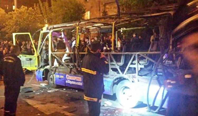 مستجدات حادثة الحافلة في يريفان - قتيل و 6 جرحى