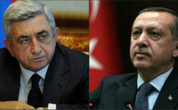 سيرج ساركيسيان يعزي رجب طيب أردوغان