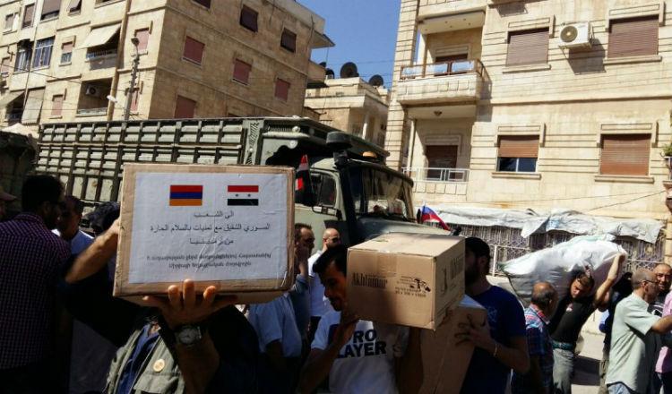 وصول الدفعة الأولى من مساعدات الحكومة الأرمنية إلى حلب