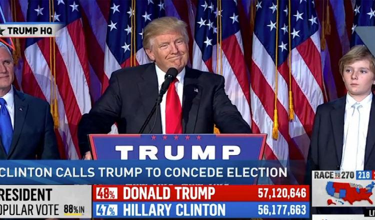 المرشح الجمهوري دونالد ترامب رئيسا للولايات المتحدة