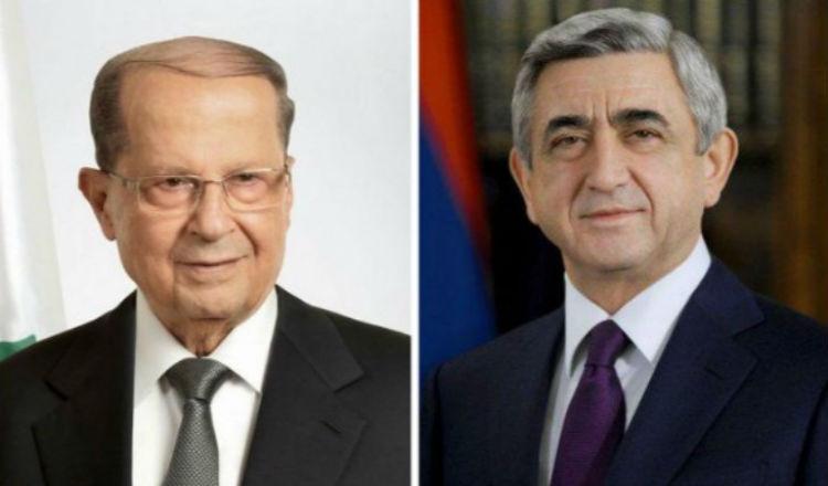 ساركيسيان يبعث رسالة تهنئة للرئيس اللبناني الجديد ميشال عون