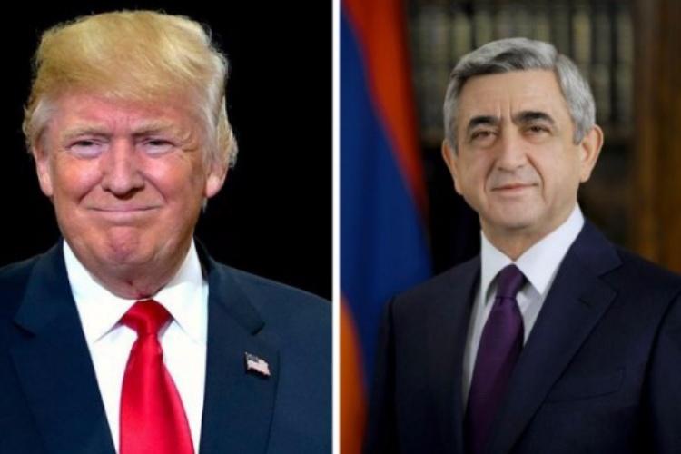 ساركيسيان يبعث رسالة تهنئة إلى الرئيس دونالد ترامب