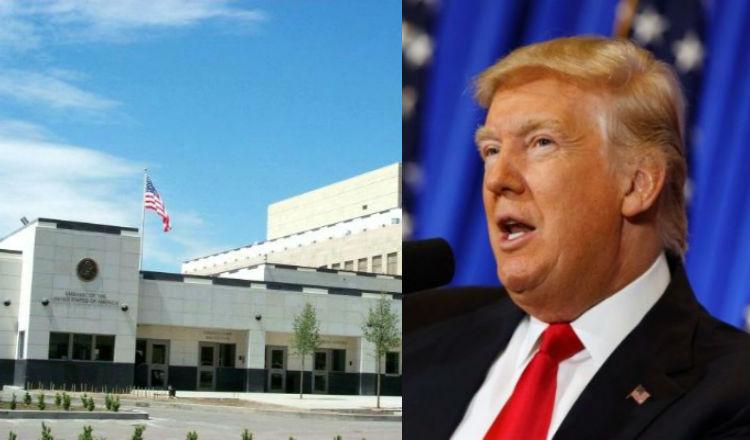 السفارة الأمريكية: ترقبوا بعد ساعات كلمة ترامب الخاصة بذكرى الإبادة