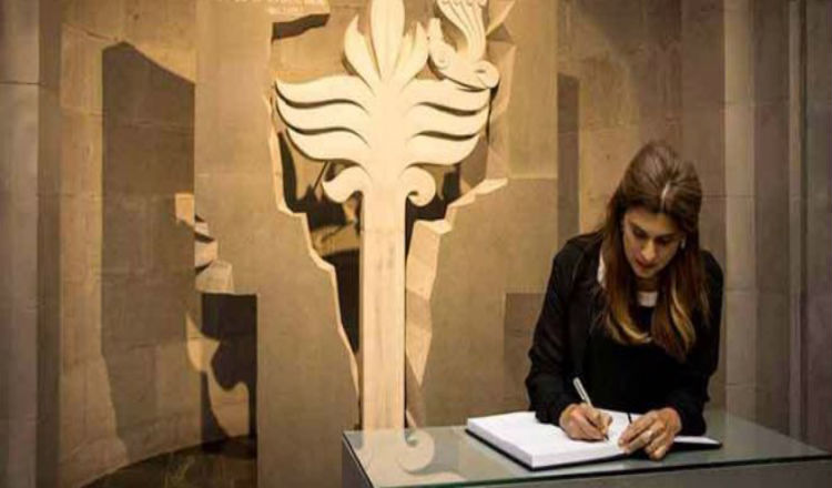 الأميرة الأردنية دينا مرعد تزور نصب ومتحف الإبادة الجماعية الأرمنية في يريفان