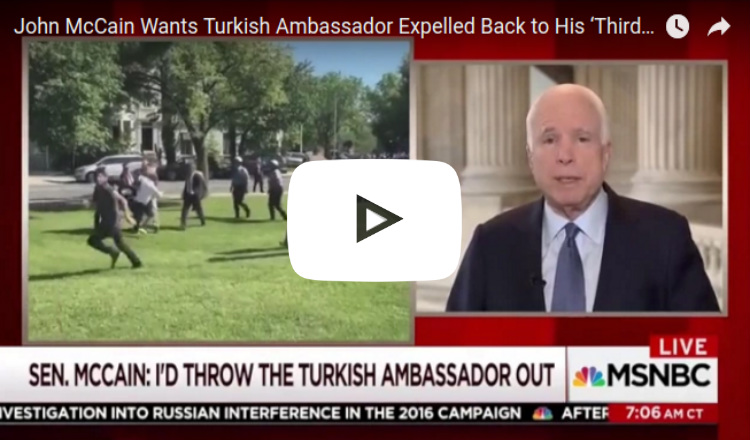 ماكين يطالب بطرد السفير التركي من واشنطن