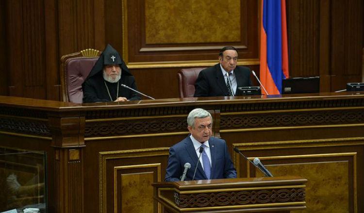 رئيس أرمينيا للبرلمان: بدأنا في الانتقال من بناء الدولة إلى التنمية المستقرة