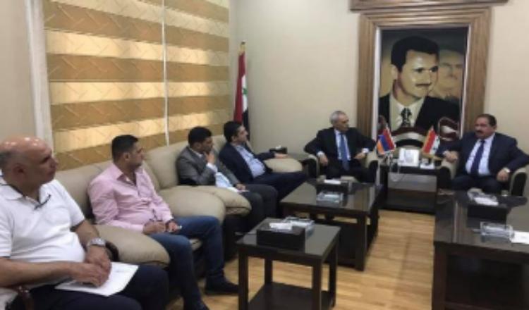 بولاديان يلتقي وزير النقل السوري: 25 ألف أرمني وصلوا أرمينيا بسبب الحرب