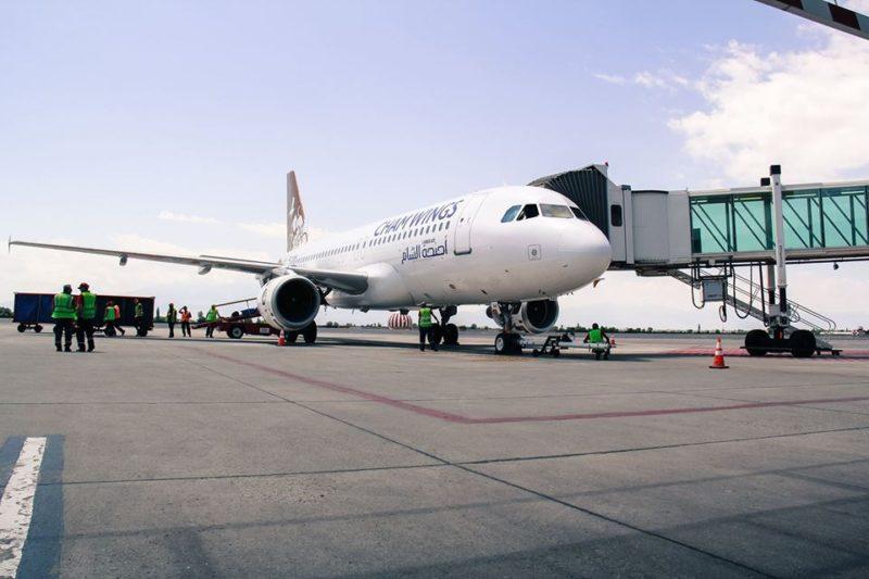 أجنحة الشام تحط على أرض مطار زفاتنوتس الدولي في يريفان