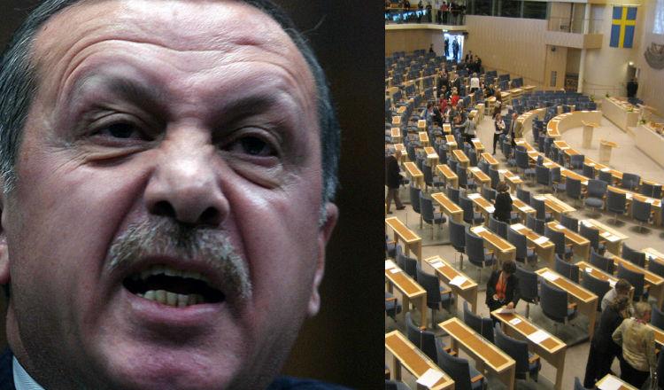 البرلمان السويدي يلاحق أردوغان قضائيا لإرتكابه جرائم حرب