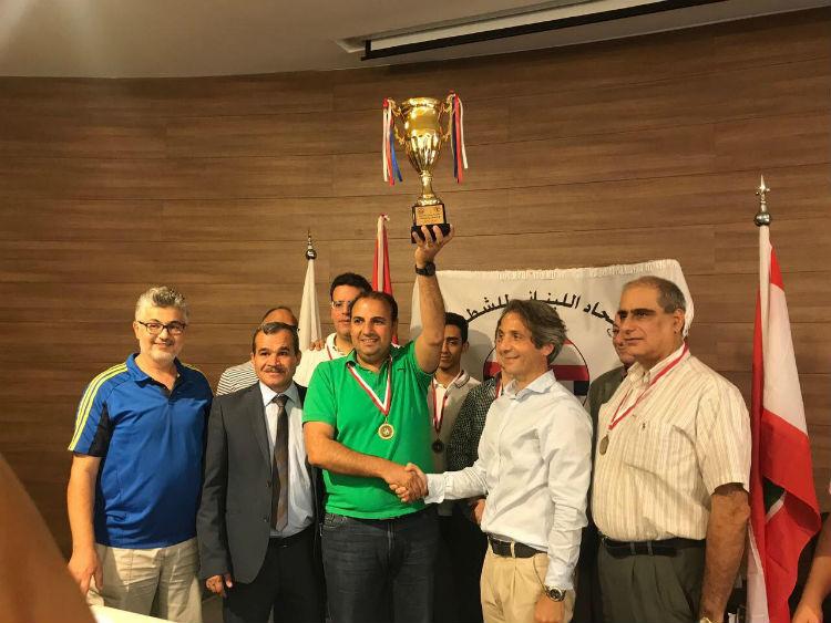 آنترانيك انطلياس بطل لبنان في الشطرنج الخاطف