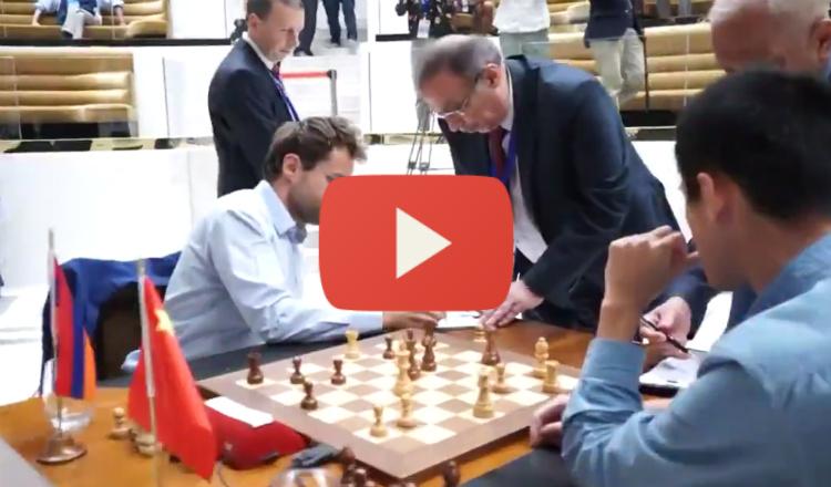 بالفيديو: لحظة الإعلان عن فوز آرونيان في بطولة كأس العالم للشطرنج