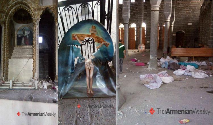 حتى صورة المسيح لم تسلم من شرهم.. الأتراك يدنسون كنيسة القديس كيراكوس
