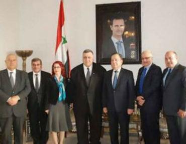 رئيس مجلس الشعب السوري يستقبل رئيس مجلس الأعمال السوري الأرميني