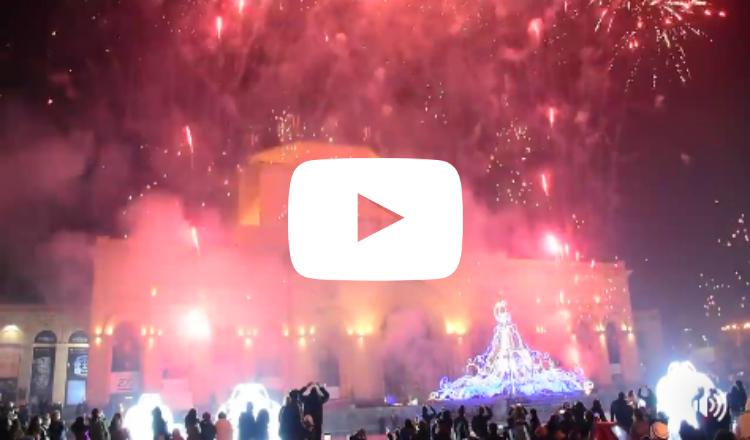 بالفيديو: لحظة إضاءة شجرة الميلاد في ساحة الجمهورية بالعاصمة يريفان