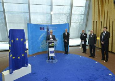 كلمة ساركيسيان أثناء الكشف عن الخاتشكار الأرمني في مقر مجلس أوروبا