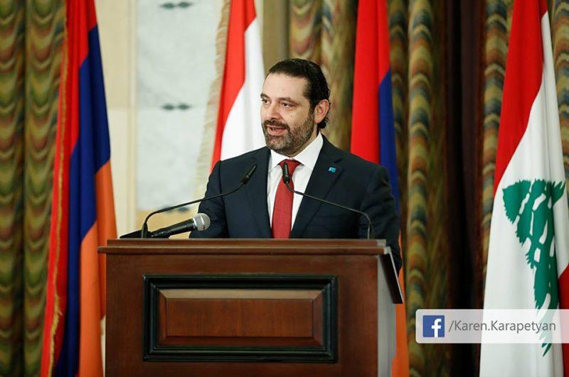حفل عشاء على شرف كارابيديان.. والحريري: أرمن لبنان عنصر فاعل في نسيج الوطن