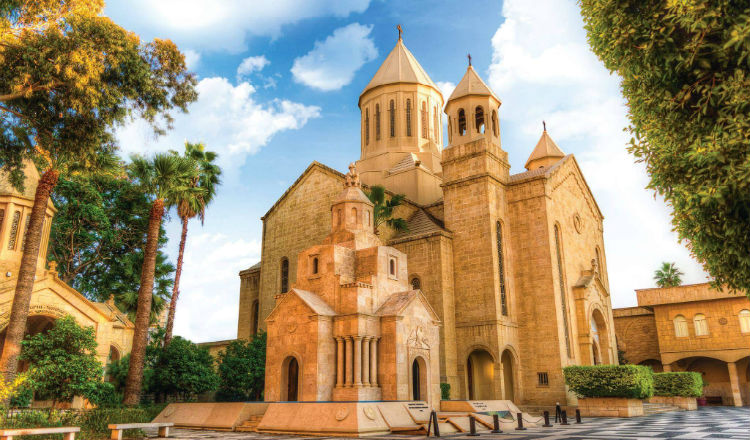 برنامج احتفالات اسبوع الآلام في كاثوليكوسية الأرمن في أنطلياس