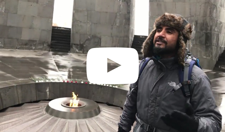 شاب تركي يتسلل إلى نصب الإبادة في يريفان ليغني: أموت في تركيا