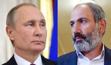 بوتين يهنئ نيكول باشينيان على توليه منصب رئاسة الوزراء في أرمينيا