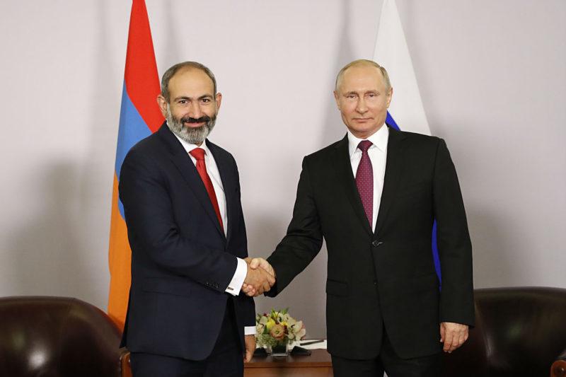 بوتين يلتقي باشينيان: روسيا ستعمل مع أرمينيا بنشاط في الساحة الدولية