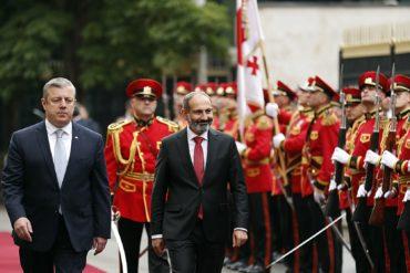 30 مايو/أيار 2018: زيارة رئيس وزراء أرمينيا نيكول باشينيان إلى جورجيا