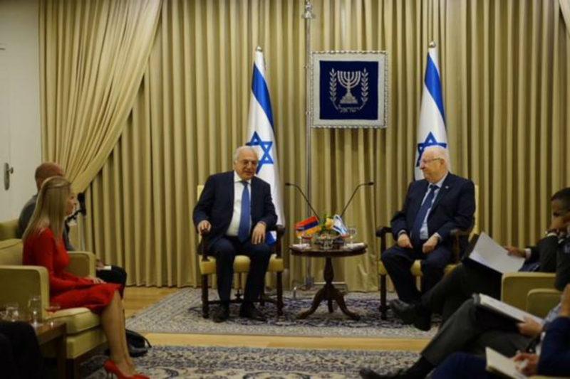 الرئيس الإسرائيلي: الشعب اليهودي لا يمكنه تجاهل معاناة الأرمن