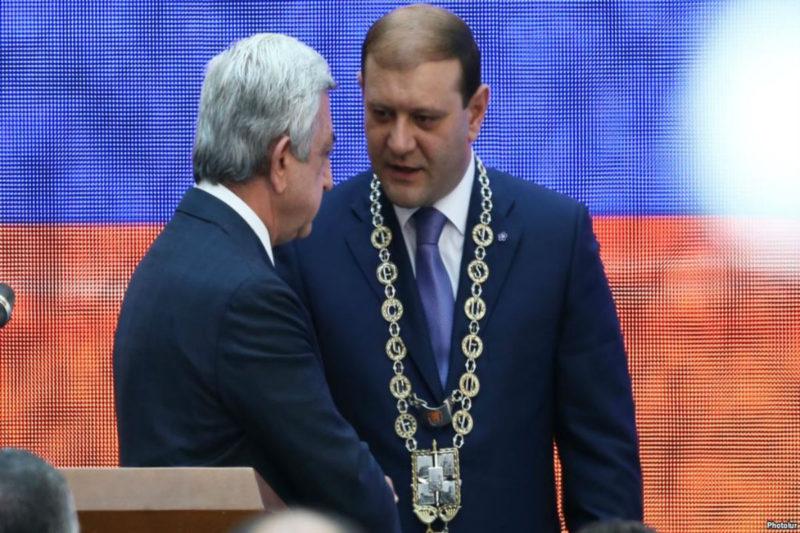عمدة يريفان دارون ماركاريان يستقيل من منصبه