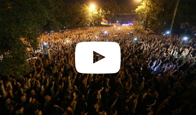 صوت آزنافور زاد من سلميتها.. ثورة الشعب الأرمني لن تكون إلا كذلك