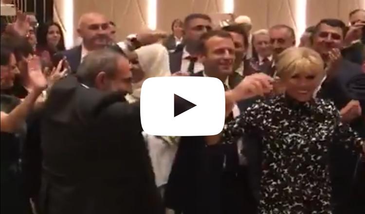 فيديو: دبكة أرمنية في فرانكوفونية يريفان وباشينيان يرقص مع زوجة ماكرون