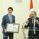الصور التي أهداها نيكول باشينيان لرئيس وزراء كندا جاستن ترودو
