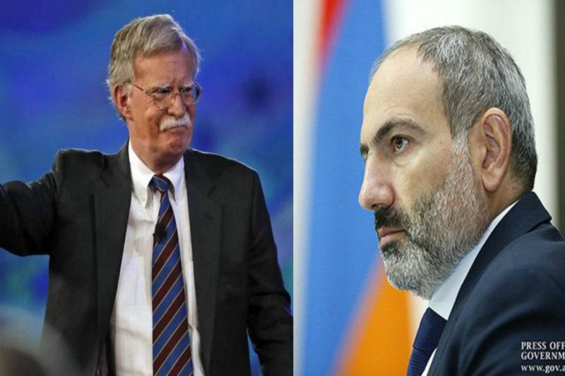 ماذا قال باشينيان لجون بولتون يوم زار الأخير يريفان قبل اسبوعين؟